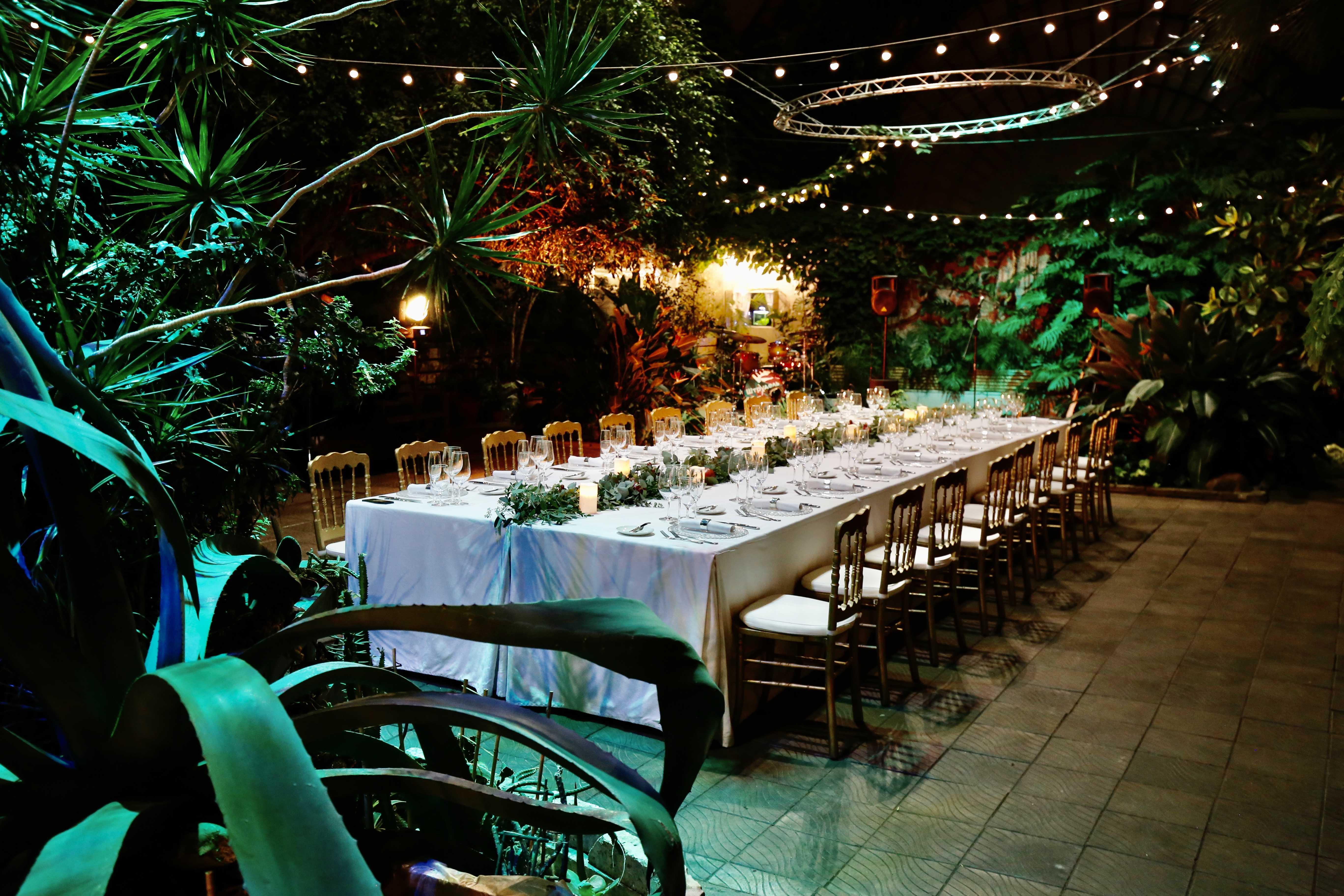 Частный ужин в Оранжерее